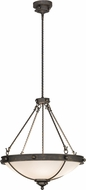Meyda Tiffany 151312 Freya French Bronze / White Acrylic Sb Out Pendant Lighting Fixture