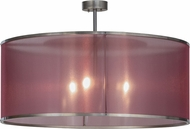 Meyda Tiffany 151325 Cilindro Palace Modern Nickel Flush Mount Lighting Fixture