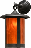 Meyda Tiffany 151339 Fulton Prime Wispy Honey Sandblasted Inside Craftsman Sconce Lighting