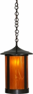 Meyda Tiffany 151340 Fulton Prime Wispy Honey Sandblasted Inside Craftsman Hanging Pendant Light