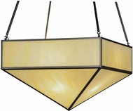 Meyda Tiffany 151396 Mission Prime Honey Onyx Acrylic Craftsman Brown Pendant Hanging Light