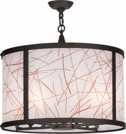 Meyda Tiffany 151397 Cilindro Veritas Modern Oil Rubbed Bronze Hanging Light Fixture