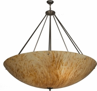 Meyda Tiffany 151471 Madison Modern Nickel / Nat Horn Acrylic Sb In Drop Ceiling Lighting