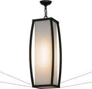 Meyda Tiffany 151590 Quadrato Kitzi Contemporary Solar Black / White Acrylic W / Anti Sway Cables Pendant Lighting