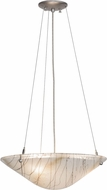 Meyda Tiffany 151637 Metro Fusion Ramoscelli Modern White Irid / Clear / Black White Pendant Light