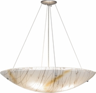 Meyda Tiffany 151639 Metro Fusion Ramoscelli Contemporary White Irid / Clear / Black White Lighting Pendant