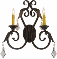 Meyda Tiffany 151650 Josephine Antique Iron Gate Wall Light Fixture