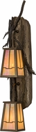 Meyda Tiffany 151727 Pine Branch Valley View Country Antique Copper / Bai Wall Lighting Sconce