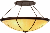 Meyda Tiffany 152050 Commerce Copper Vein / Earth Marble Overhead Light Fixture