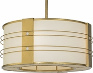 Meyda Tiffany 152097 Cilindro Touro Modern Gold Leaf Pendant Light