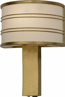 Meyda Tiffany 152098 Cilindro Touro Contemporary Gold Leaf Wall Sconce