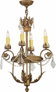 Meyda Tiffany 152132 Antonia Spasnish Gold Mini Ceiling Chandelier