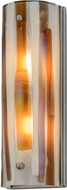 Meyda Tiffany 152189 Metro Fusion Marina Contemporary Amber / Beige / Smoke / Irid Clear Nickel Powder Coat Sconce Lighting