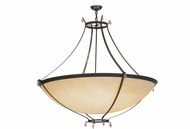 Meyda Tiffany 152223 Modesto Timeless Bronze / Carmel Onyx Sb Out Pendant Lamp
