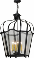 Meyda Tiffany 152351 Citadel Flat Black / Clear Seedy Acrylic Foyer Lighting