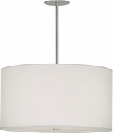 Meyda Tiffany 152359 Cilindro Papel Blanco Brushed Nickel Pendant Lighting Fixture