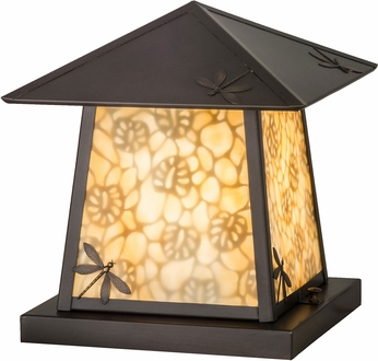 Meyda Tiffany 152492 Stillwater Dragonfly Rustic Beige Craftsman Outdoor Pier Mount