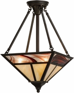 Meyda Tiffany 152501 T Mission Contemporary Craftsman Brown Drop Lighting