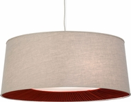 Meyda Tiffany 152529 Bruges Tapered Pleated Bottom Return Ceiling Pendant Light
