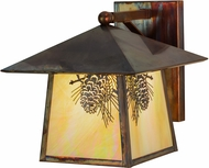 Meyda Tiffany 152568 Stillwater Winter Pine Country Bai Vintage Copper Wall Light Fixture