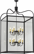 Meyda Tiffany 152580 Rennes Charred Iron / Clear Foyer Light Fixture