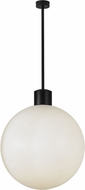 Meyda Tiffany 152587 Bola Modern Black Fluorescent Lighting Pendant