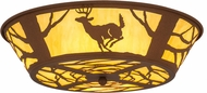 Meyda Tiffany 15277 Deer on the Loose Country Earth Marble Acrylic Ceiling Lighting