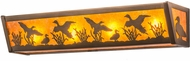 Meyda Tiffany 15279 Ducks in Flight Country Antique Copper / Amber Mica Sconce Lighting