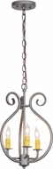 Meyda Tiffany 152814 Easton Blackened Pewter Mini Chandelier Light