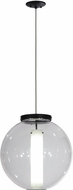 Meyda Tiffany 152857 Bola Cilindro Contemporary Black / Clear & White Acrylic Hanging Light Fixture