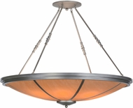 Meyda Tiffany 152861 Commerce Modern Nickel / Honey Acrylic Flush Lighting