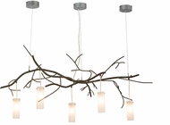Meyda Tiffany 152967 Winter Solstice Cilindro Modern Timeless Bronze Halogen Multi Pendant Island Light Fixture