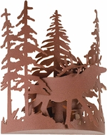 Meyda Tiffany 15307 Elk through the Trees Country Rust Wall Sconce