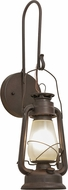 Meyda Tiffany 153107 Miner's Lantern Country Distressed Rust Wall Lighting