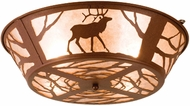 Meyda Tiffany 15311 Elk on the Loose Rustic Rust / Silver Mica Ceiling Light Fixture