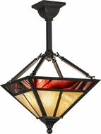 Meyda Tiffany 153259 T Mission Modern Ha Burgundy Hanging Lamp