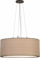 Meyda Tiffany 153283 Cilindro White Oak Veneer Oil Rubbed Bronze Pendant Lighting Fixture