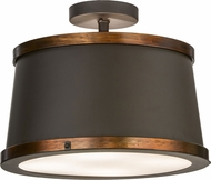 Meyda Tiffany 153345 Cilindro Reel Oil Rubbed Bronze / Copper Accents Fluorescent Overhead Lighting
