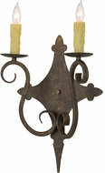 Meyda Tiffany 153385 Angelique Gilded Tobacco Wall Mounted Lamp