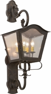Meyda Tiffany 153482 Christian Gilded Tobacco / Clear Seedy Glass Exterior Wall Sconce Light
