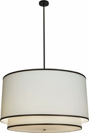 Meyda Tiffany 153491 Cilindro White Black Drop Ceiling Lighting
