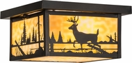 Meyda Tiffany 153550 Hyde Park Deer Creek Rustic Beige Craftsman Home Ceiling Lighting