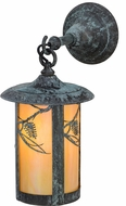 Meyda Tiffany 153600 Fulton Whispering Pines Country Bai Verd Wall Lamp
