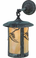 Meyda Tiffany 153601 Fulton Whispering Pines Rustic Bai Verd Wall Lighting