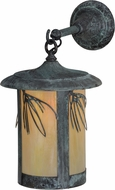 Meyda Tiffany 153602 Fulton Lone Pine Country Bai Verd Sconce Lighting