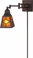 Meyda Tiffany 153785 Diamond Mission Mahogany Bronze Swing Arm Lighting