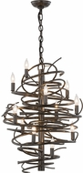 Meyda Tiffany 153834 Cyclone Modern Bronze Metallic Mini Chandelier Lighting
