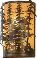Meyda Tiffany 153841 Tall Pines Country Dark Burnished A/C New Mica Acrylic Sb Outside Lighting Wall Sconce