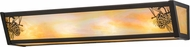 Meyda Tiffany 153925 Winter Pine Rustic Timeless Bronze / Bai Glass Bathroom Sconce Lighting