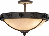 Meyda Tiffany 153947 Arabesque Copper Rust / Alabaster Acrylic Gold High Lights Ceiling Light Fixture